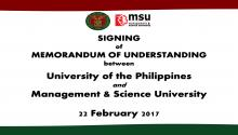 MOU SIGNING MSU AND UP MANILA