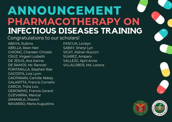Pharmacotherapy on Infectious Diseases Training Scholars