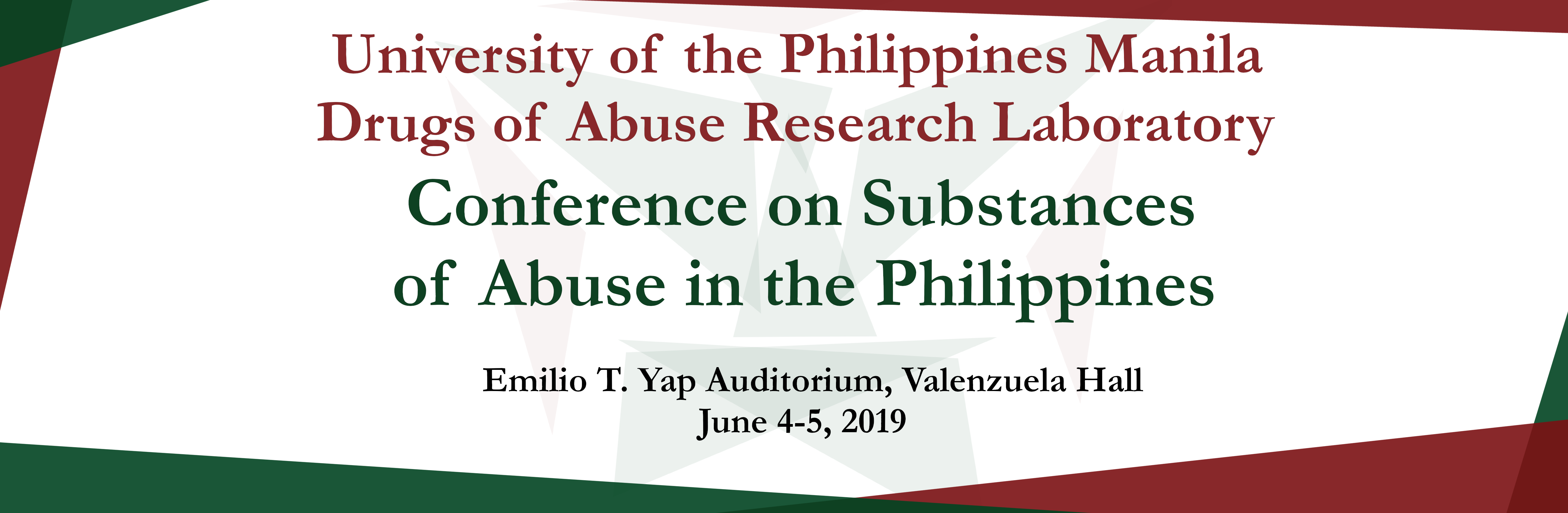 Conference On Substances Of Abuse In The Philippines